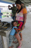 Embera Woman and Child at their Village
