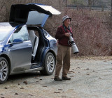 Birding with Peter and the Tesla!