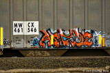 Few railway cars can be found that  have no grafitti