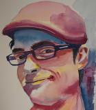 Dave - watercolor, 5.5 x 7.5       9-2017
