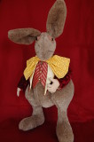 Rabbit. Cloth, free standing, wired fingers.