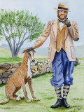 Daniel and his Greyhound - 11 x 14            1-19