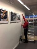 Inrichten foto-expositie