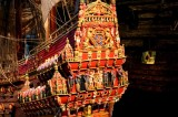 SCALE MODEL OF THE VASA SHOWING ORIGINAL DECORATION