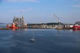 MODULAR OIL PLATFORM UNDER CONSTRUCTION