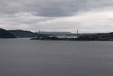 BERGEN HARBOR- SECOND LONGEST SUSPENSION BRIDGE IN NORWAY
