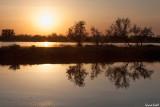 Coucher de soleil sur le delta