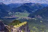 Vue depuis le téléphérique de la Zugspitze