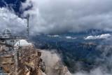 Vue depuis la terrasse panoramique de la Zugspitze