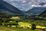 Vue sur la vallée d'Imst