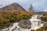 Famous Etive Mor Waterfall