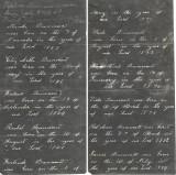 Handwritten list of James Lone Dunman's siblings