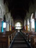 Inside St Andrew's church, Greystoke