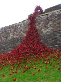 Carlisle Castle with Weeping Windows sculpture