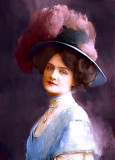 Woman With Hat And Plumes