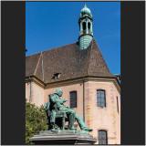 Statue G.A. Hirn et Chapelle Saint Pierre.