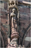Statue de Saint-Arbogast restaurée.