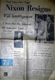 Newspaper from August 9, 1974 - Nixon Resigns