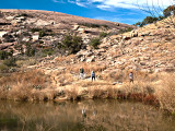 Hiking below the rock