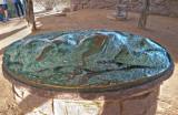 Bronz sculpture of Enchanted Rock