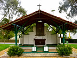Canberra, rebuilt chapel from Changi Camp at Singapore