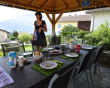 A lovely lunch at the home of our home exchangees