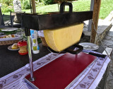 Our host prepares a Raclette