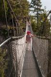 Crossing the high metal bridge {PG}
