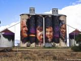 Painted Grain Silos, Sheep Hills
