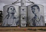Painted Grain Silos,  Rupanyup