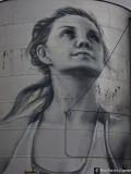 Painted Grain Silos,  Rupanyup - detail