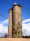 Painted Grain Silo - Lascelles