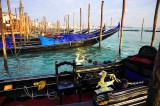 Gondolas on Pier
