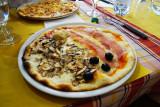 Psychedelic Pizza in The La Trattoria