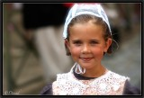 A Young Girl dressed for the Main Festival in Quimper.