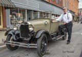 Dave, owner of 1928 model A Ford coupe.