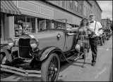 Dave, owner of 28 Ford with Lisa.