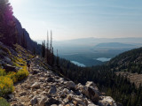 Descending Garnet Canyon trail