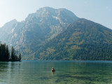Relaxing at Leigh Lake
