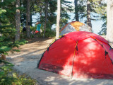 Leigh Lake camp