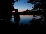 First light at Leigh Lake