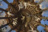 Beautiful trompe l'oeil ceiling at Casa Vicens