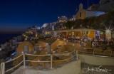 Kastro Oia Restaurant twilight
