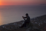 Alex shooting the rising sun