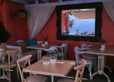 Melevio Cafe Mirror, Oia