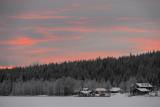 Lake Immel sunset, Lapland