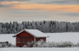 Pale sunset of Lapland