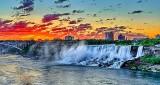 American Falls At Sunrise P1200938-42