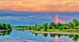 Partial Rainbow At Sunrise P1210519-21