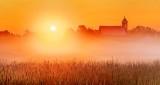 Church & Ground Fog At Sunrise P1220251-7